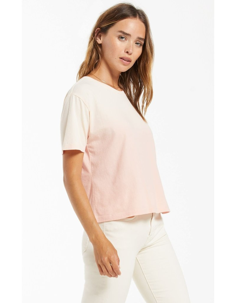 Z Supply Sol Ombre Tee Rose Pearl