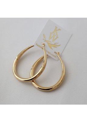 Katie Waltman Jewelry Large Teardrop Hoop Earrings