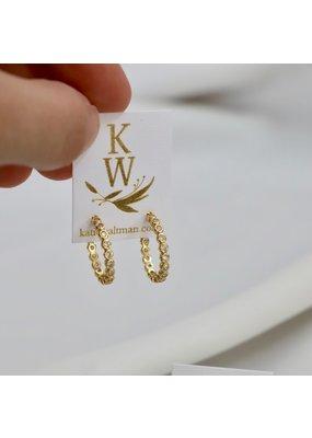 Katie Waltman Jewelry CZ Eternity Hoop Earrings