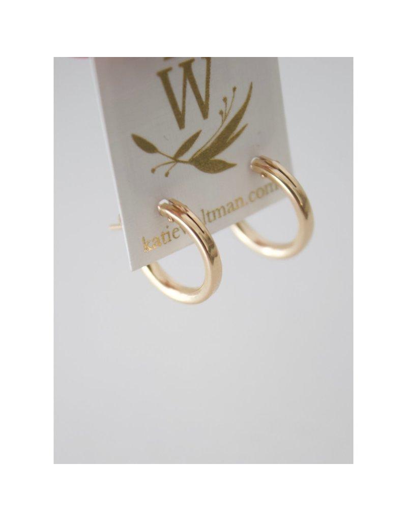 Katie Waltman Jewelry Small Gold Filled Hoops