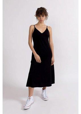 Stateside Cotton Jersey Double V-Nack Cami Dress Black