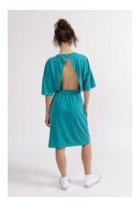 Stateside Cotton Jersey Open Back Dress Aloe Leaf