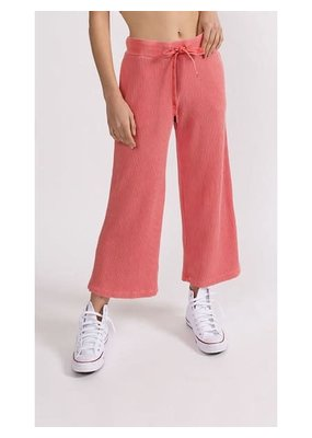 Stateside Luxe Thermal Cropped Palazzo Pant Sunburst