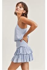Reset by Jane Silky Amore Skirt Light Blue