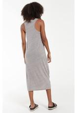 Z Supply Reverie Knot Triblend Dress Heather Grey