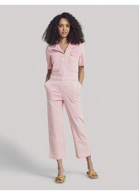 Faherty Sunwashed Blythe Jumpsuit Pink Tie Dye