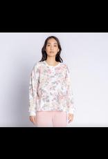 PJ Salvage Retro Rose Long Sleeve Top Antique White