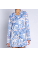 PJ Salvage Swirls Night Shirt Blue