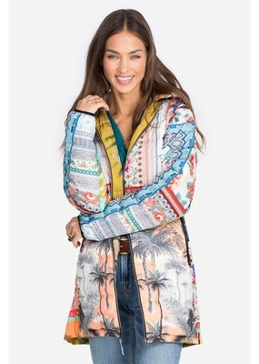 Johnny Was Tropical Down Parka (Reversible)