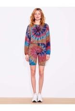 Sundry Side Tie Sweatshirt Multicolor Tie Dye