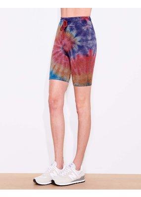 Sundry Biker Short Multicolor Tie Dye