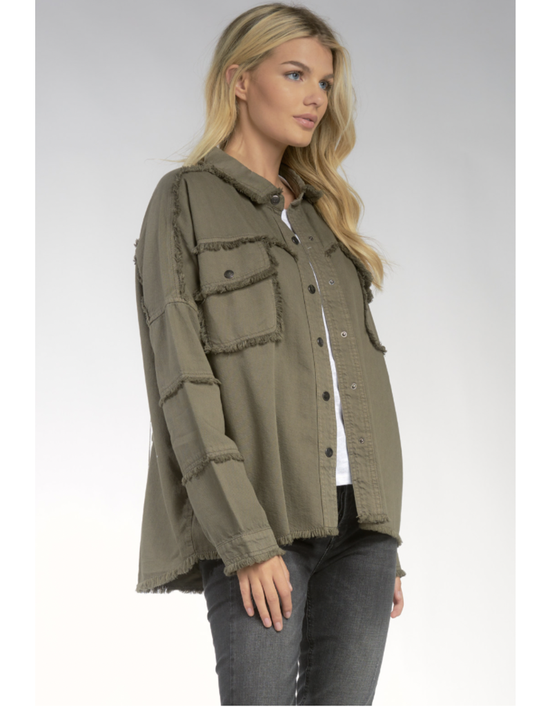 Elan All You Need is Love Jacket Olive