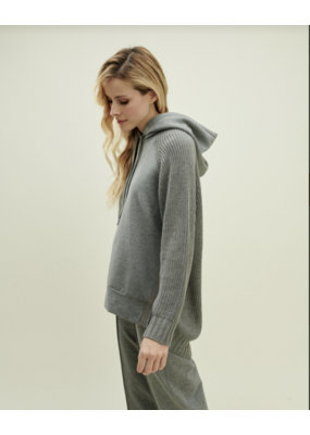 Splendid Shea Sweater Mix Hood Heather Grey