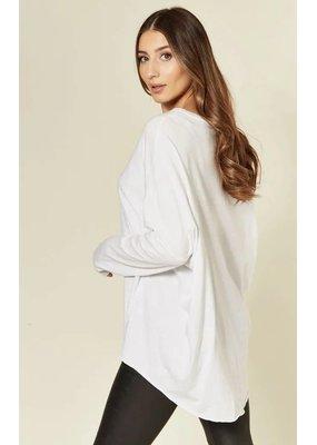 Suzy D Oversized Jersey Top