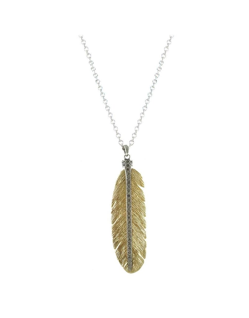 Casbah Feather Necklace 24K Gold