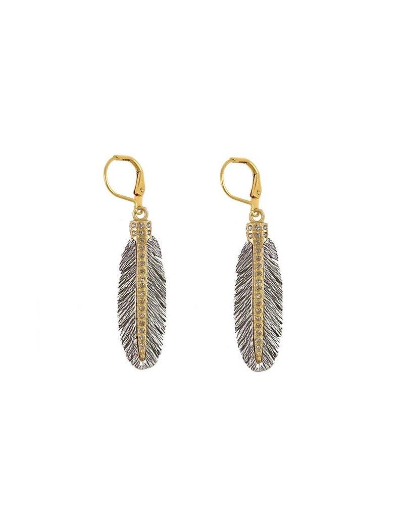 Casbah Mini Feather Earrings