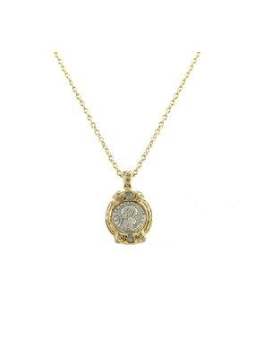 Constantine II Small Necklace 24K Gold & Labradorite
