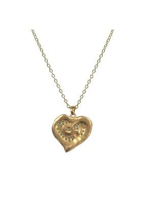 Impression Heart Necklace 24K Gold