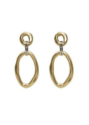 Large and Small Link Connector Earring