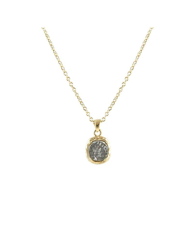 Pavia Coin & Frame Necklace 24K Gold