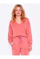Sundry Pleated Sleeve Sweatshirt Rust