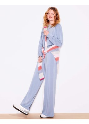 Sundry Wide Leg Pants Slate Blue
