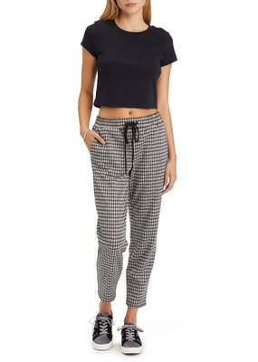 Sanctuary Easy Going Pant Brooklyn Checkered