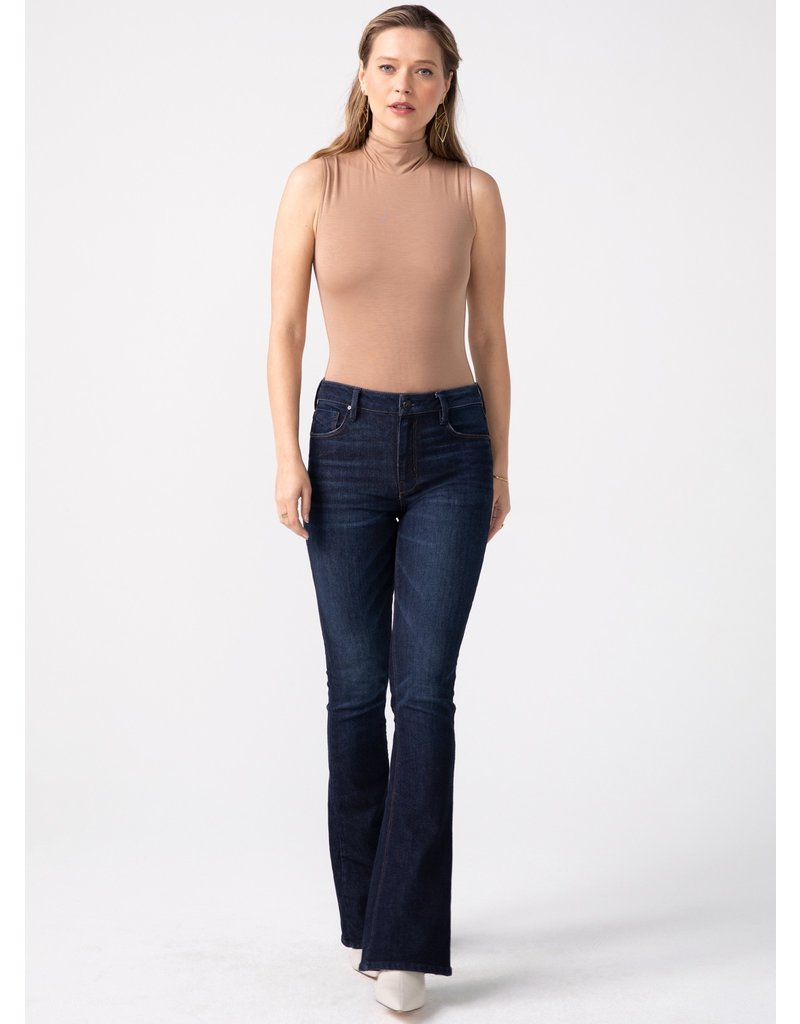Unpublished Jan High Rise Slim Flare in Mystic