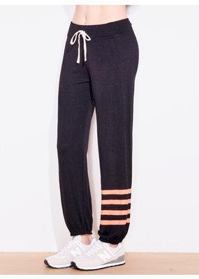 Sundry Stripe Sweatpants Black