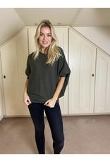 Suzy D Eliza Dolman Knit Olive
