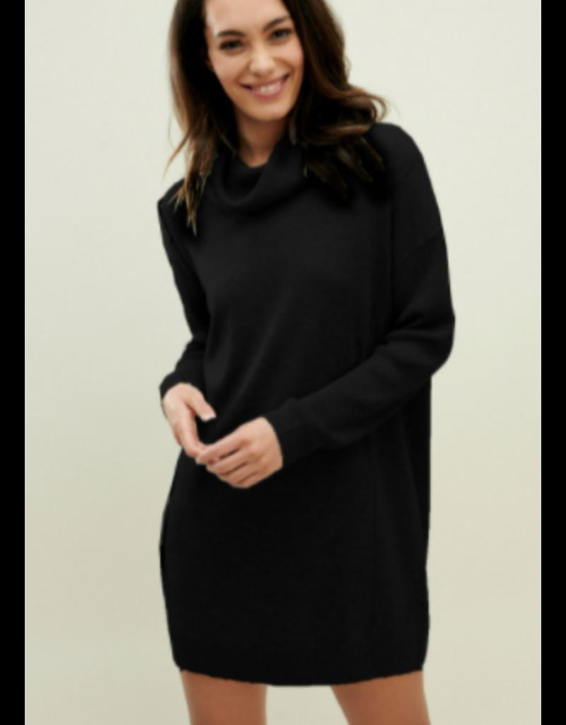 Cowl Dress Black