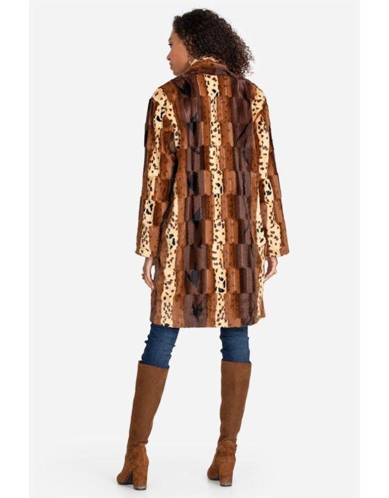 Johnny Was Patchwork Faux Fur Jacket