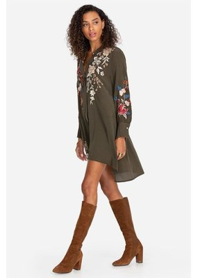 Johnny Was Freja Voyager Tunic Army