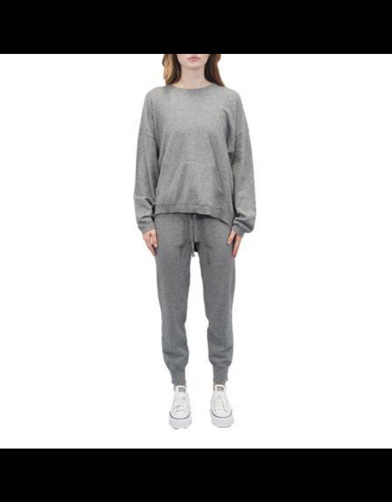 Ladies Knit Top + Pants Set Grey