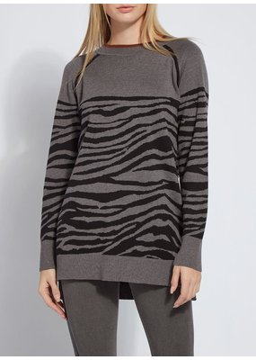Lysse Upstate Jacquard Zebra Sweater