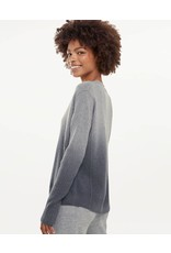 Divine Cashmere Sweater Charcoal Dip Dye