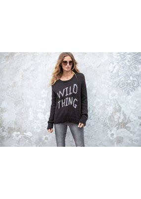 Wooden Ships Wild Thing Crew Chunky Black/Cement