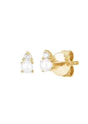 Faire Eclipse Pearl Stud Earrings