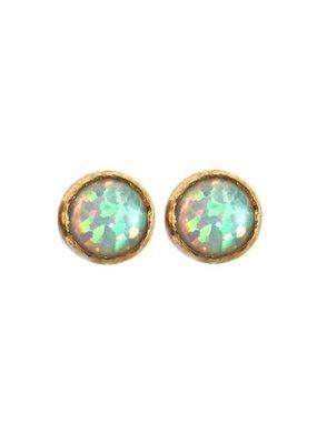 Faire Opal Medium Size Stud Earrings
