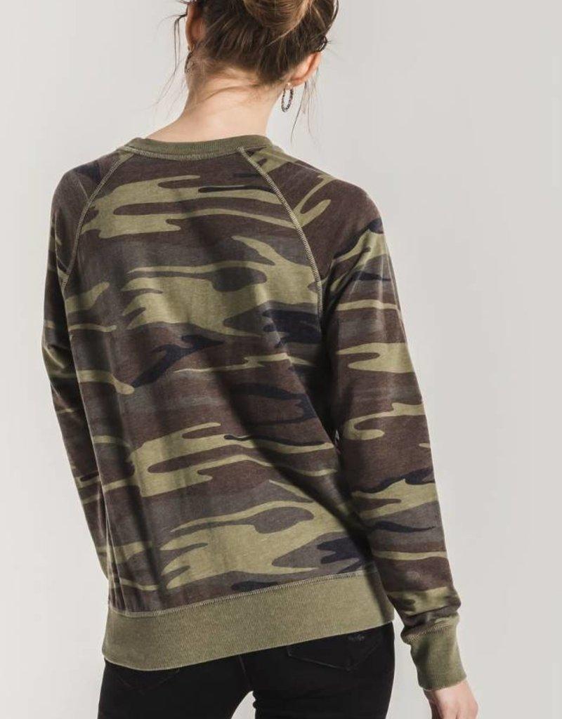 Camo Crew pullover