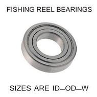 7x19x6mm precision shielded SS fishing reel bearings