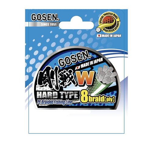 Gosen fishing line GOSEN W light green Hard Type 8 braid 150m  1 PE:0.171 9.1kg