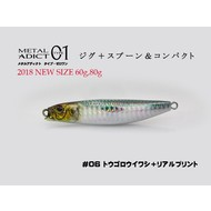 Little Jack lures Little Jack metal adict type-01 80g #06 Spruce sardine + real print