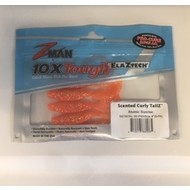 "Zman lures Z-Man Scented Curly Tailz 4"" 5pk Atomic sunrise"