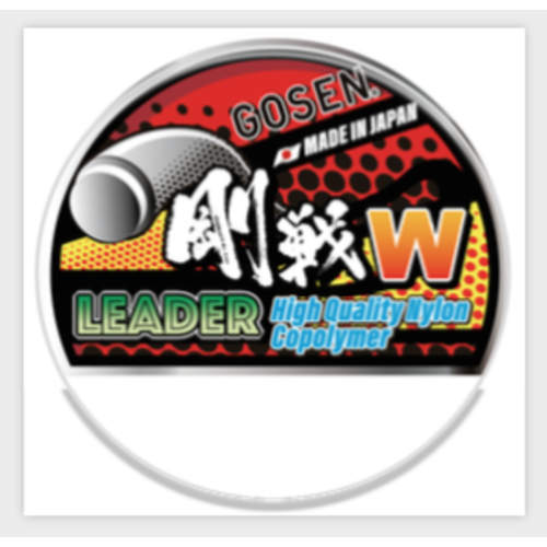 Gosen fishing line GOSEN W Leader Nylon 50m 80lb