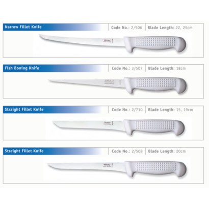 Victory narrow filleting knife 22cm
