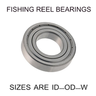 10x19x5mm precision shielded SS fishing reel bearings