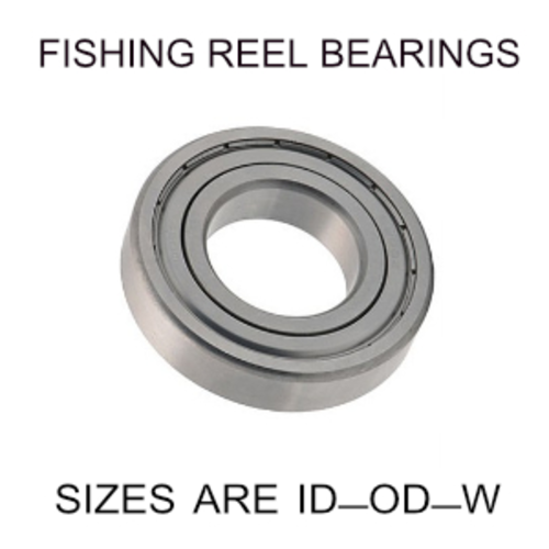 10x22x6mm precision shielded SS fishing reel bearings