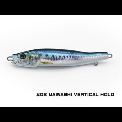 Little Jack lures Little Jack Metal Adict-04 150g  #02 MAIWASHI VERTICAL HOLO jig