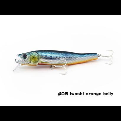 Little Jack lures Little Jack forma gloss Iwashi orange belly  #5 125mm floating